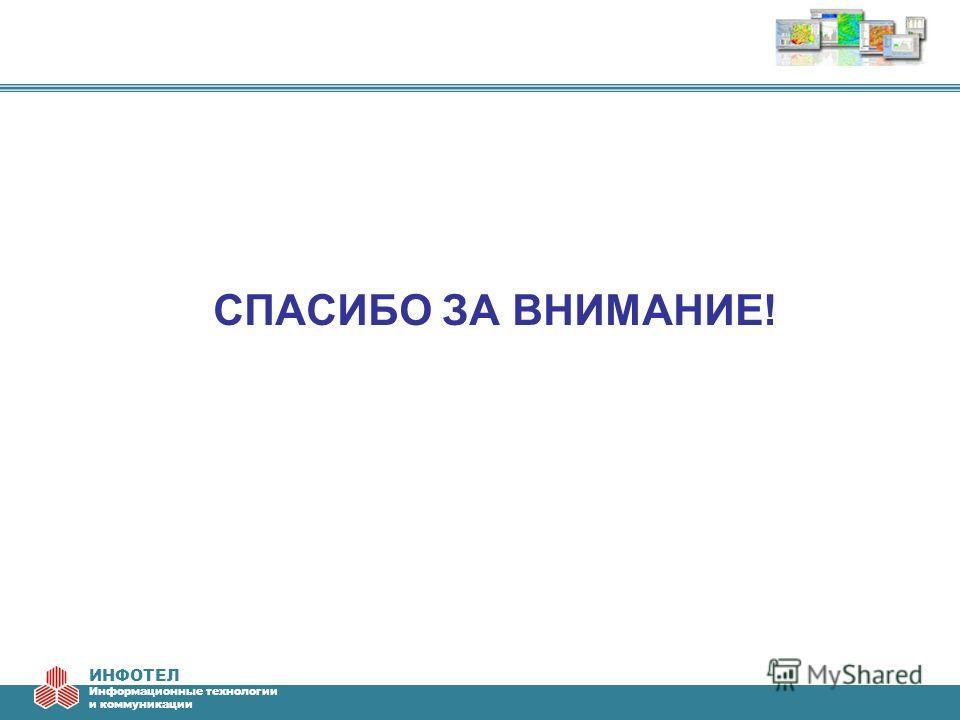 ИНФОТЕЛ Информационные технологии и коммуникации СПАСИБО ЗА ВНИМАНИЕ!