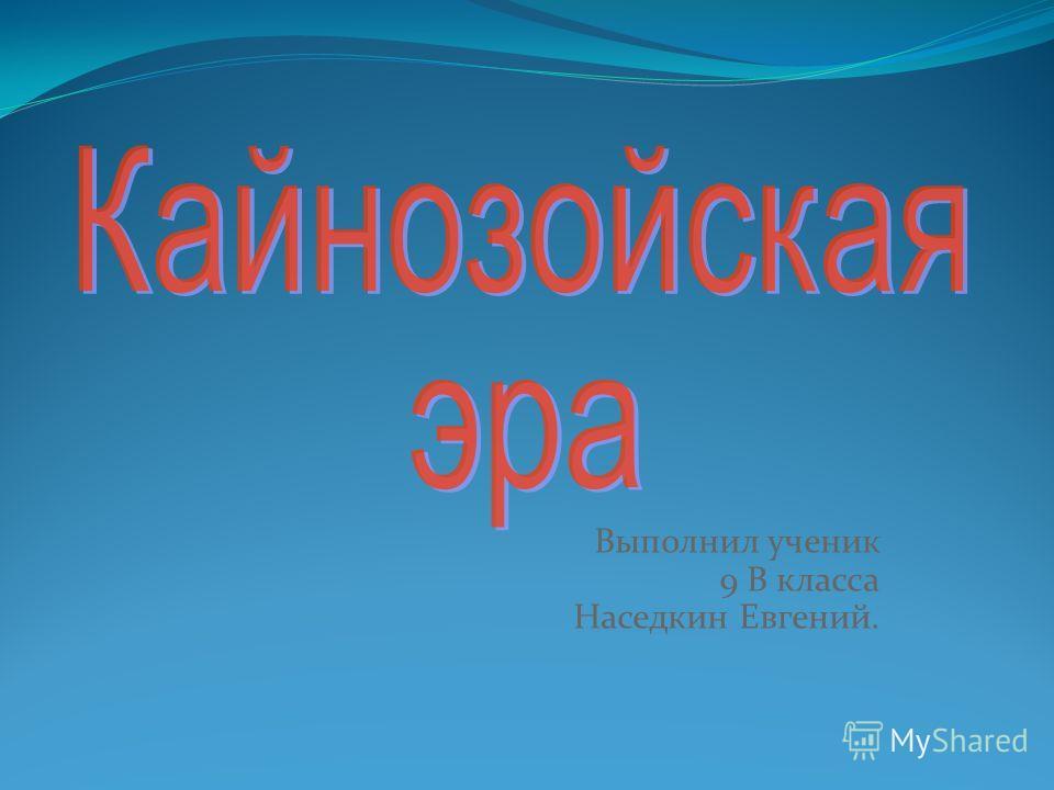 Выполнил ученик 9 В класса Наседкин Евгений.