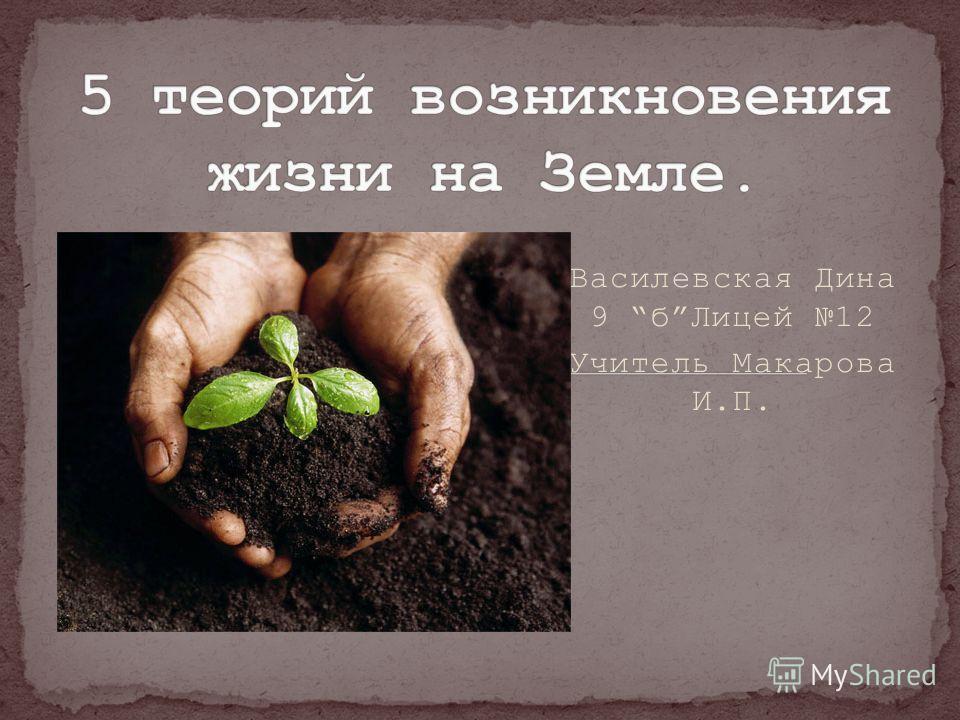 Василевская Дина 9 бЛицей 12 Учитель Макарова И.П.