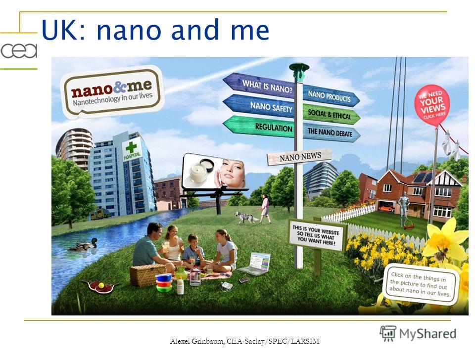 UK: nano and me Alexei Grinbaum, CEA-Saclay/SPEC/LARSIM