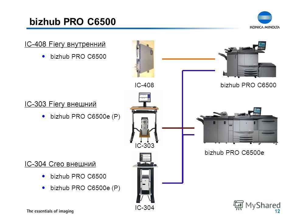 12 IC-408 IC-304 IC-303 bizhub PRO C6500 bizhub PRO C6500e IC-408 Fiery внутренний bizhub PRO C6500 IC-303 Fiery внешний bizhub PRO C6500e (P) IC-304 Creo внешний bizhub PRO C6500 bizhub PRO C6500e (P) bizhub PRO C6500