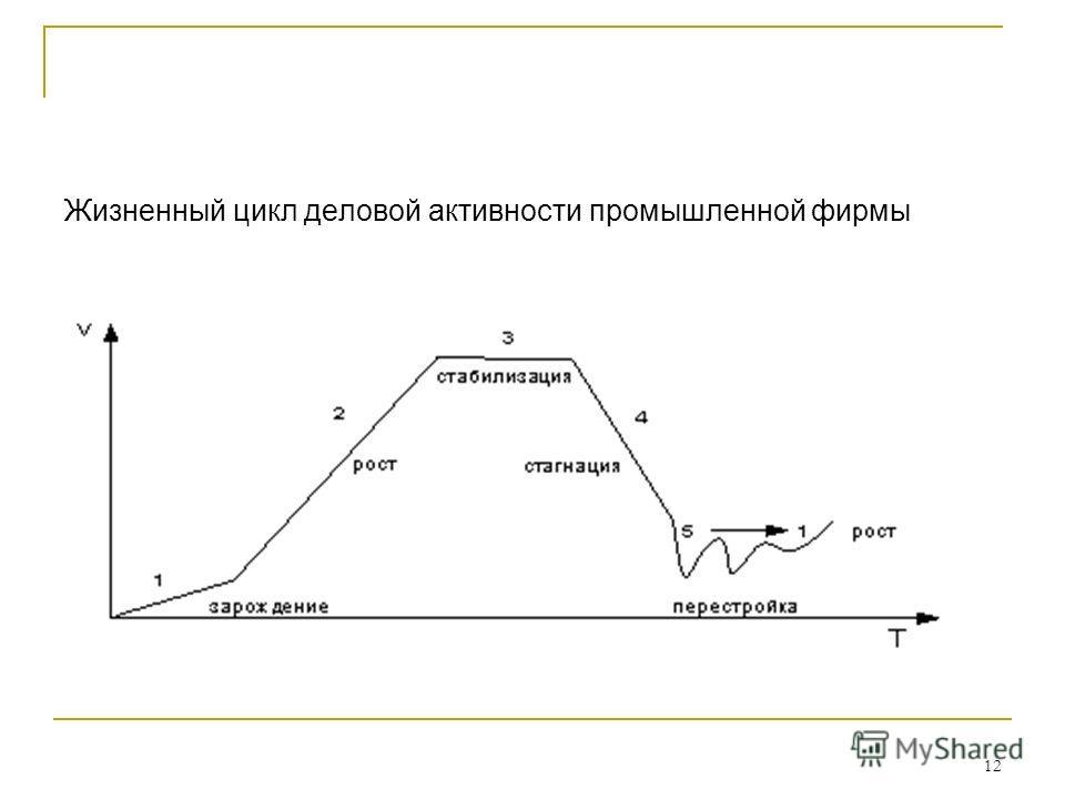 12 Жизненный цикл деловой активности промышленной фирмы