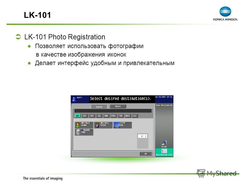 Exchange Meeting Jan 06 – Lars Moderow LK-101 Photo Registration Позволяет использовать фотографии в качестве изображения иконок Делает интерфейс удобным и привлекательным LK-101