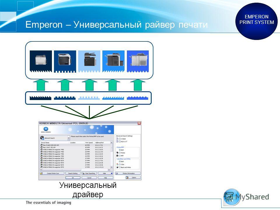 Emperon – Универсальный райвер печати EMPERON PRINT SYSTEM Универсальный драйвер