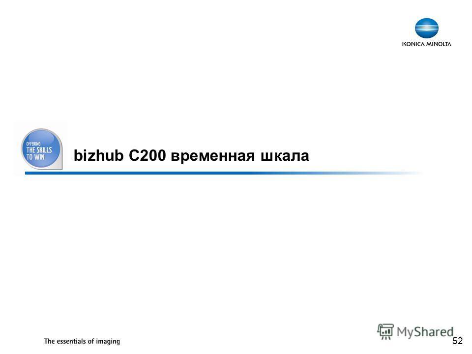 52 bizhub C200 временная шкала