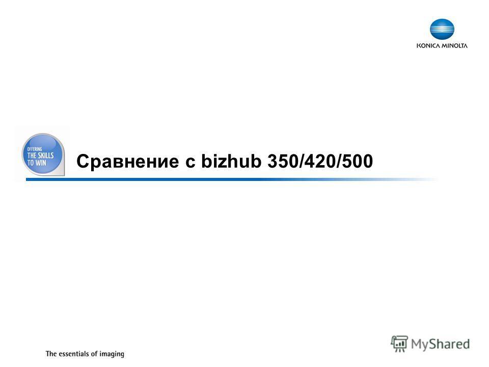 15 Сравнение с bizhub 350/420/500