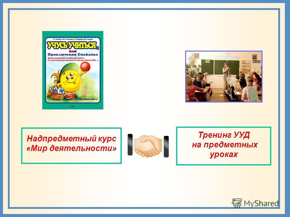Надпредметный курс «Мир деятельности»