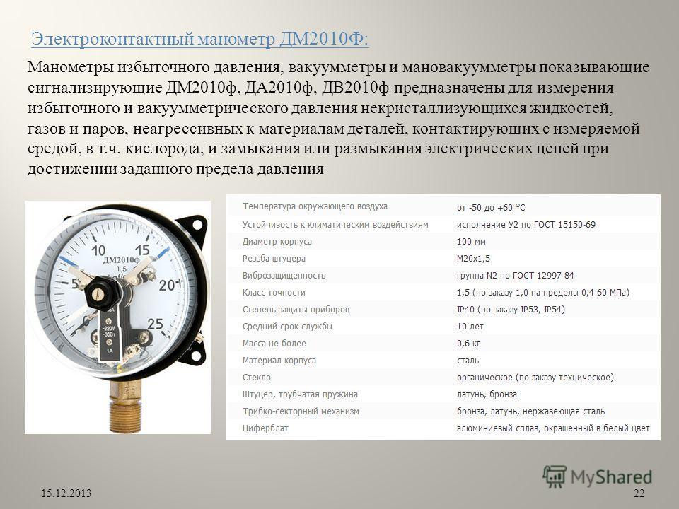 манометр ДМ2010Ф: