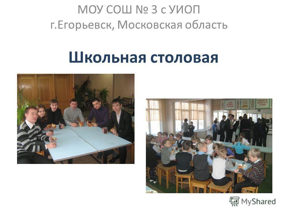 Школьная столовая МОУ СОШ 3 с УИОП г.Егорьевск, Московская область