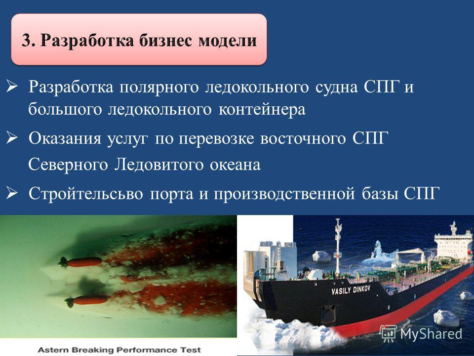 Разработка полярного ледокольного судна СПГ и большого ледокольного контейнера Оказания услуг по перевозке восточного СПГ Северного Ледовитого океана Стройтельсьво порта и производственной базы СПГ