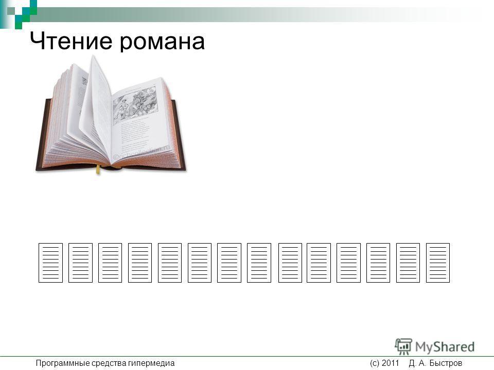 Чтение романа Программные средства гипермедиа (c) 2011 Д. А. Быстров