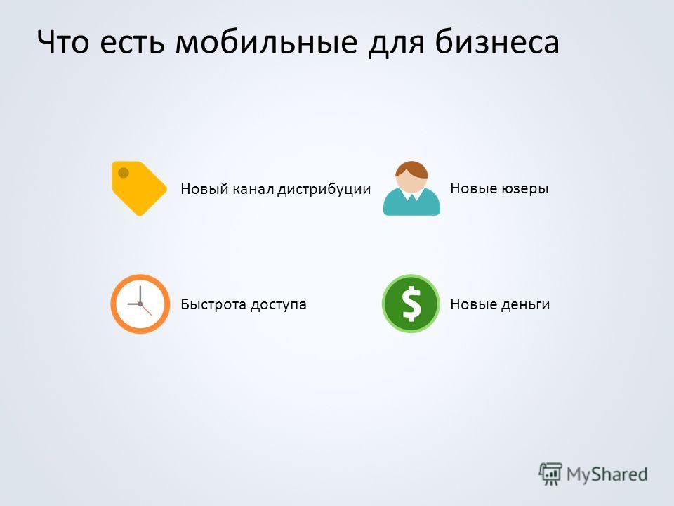 Что есть мобильные для бизнеса Новый канал дистрибуции Новые юзеры Быстрота доступаНовые деньги