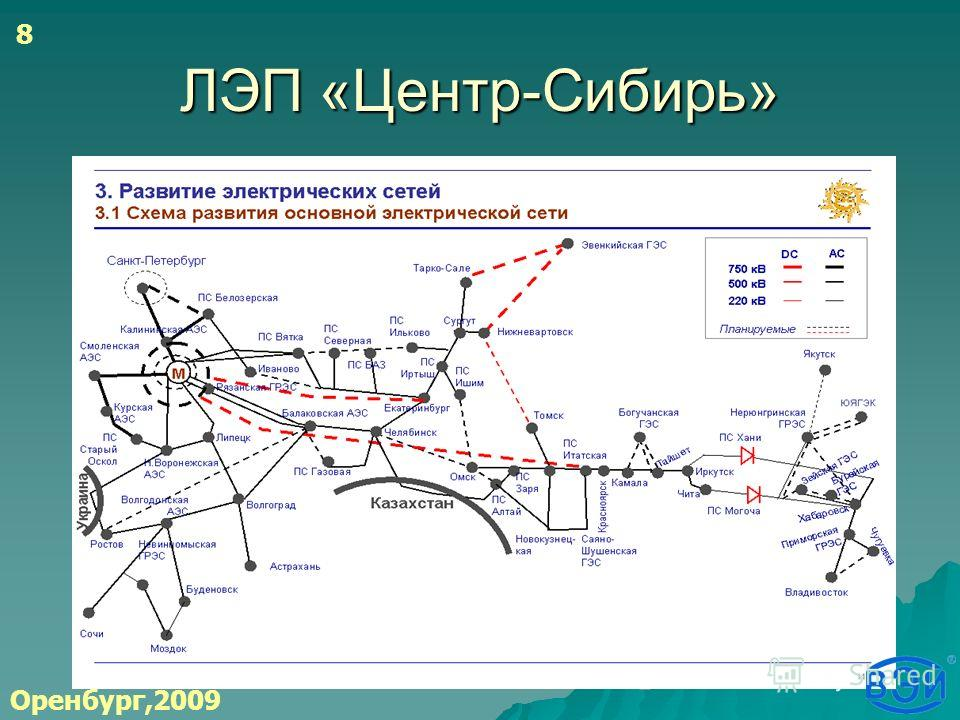 ЛЭП «Центр-Сибирь» Оренбург,2009 8