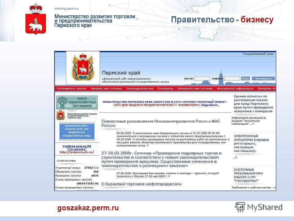 goszakaz.perm.ru Правительство - бизнесу