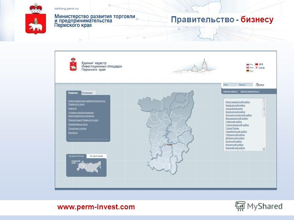www.perm-invest.com Правительство - бизнесу