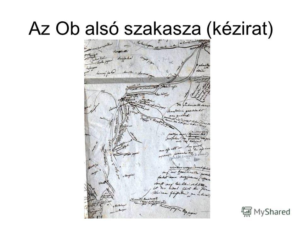 Az Ob alsó szakasza (kézirat)