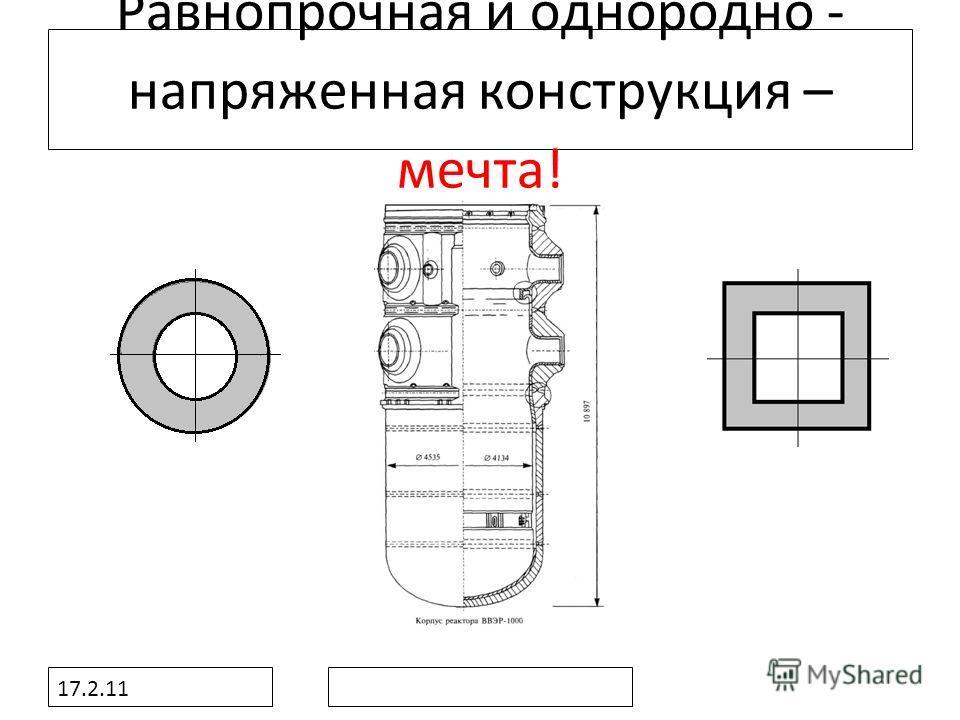 17.2.11 Равнопрочная и однородно - напряженная конструкция – мечта!