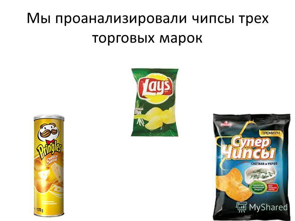Мы проанализировали чипсы трех торговых марок