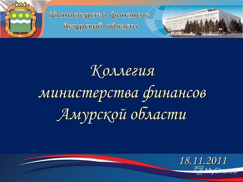 Коллегия министерства финансов Амурской области 18.11.2011