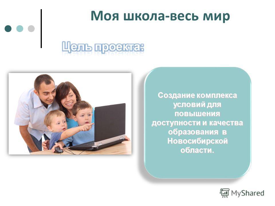 Создание комплекса условий для повышения доступности и качества образования в Новосибирской области. Моя школа-весь мир