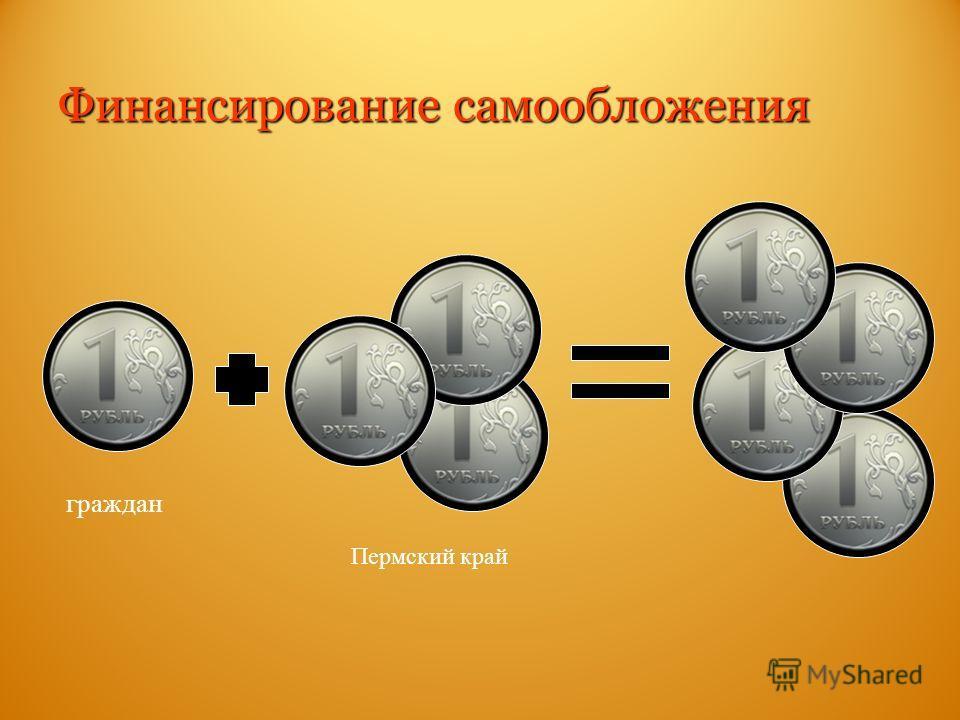 граждан Пермский край Финансирование самообложения
