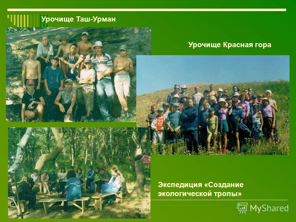 Урочище Таш-Урман Урочище Красная гора Экспедиция «Создание экологической тропы»