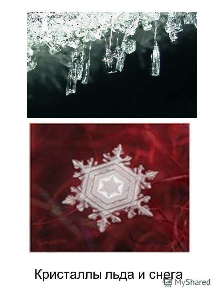 Кристаллы льда и снега