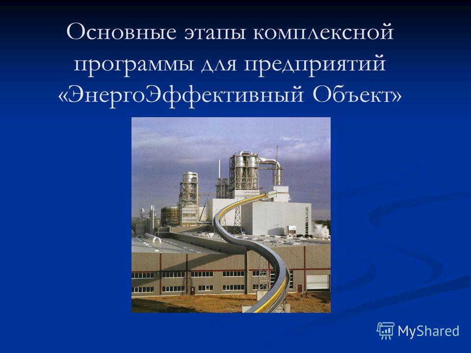 Основные этапы комплексной программы для предприятий «ЭнергоЭффективный Объект»