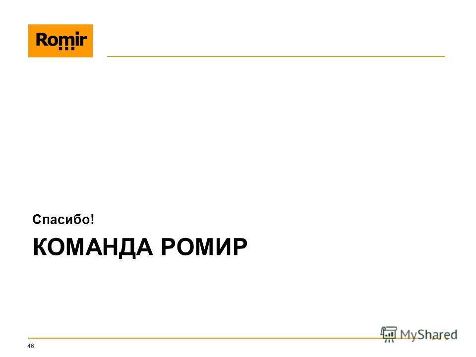 КОМАНДА РОМИР Спасибо! 46