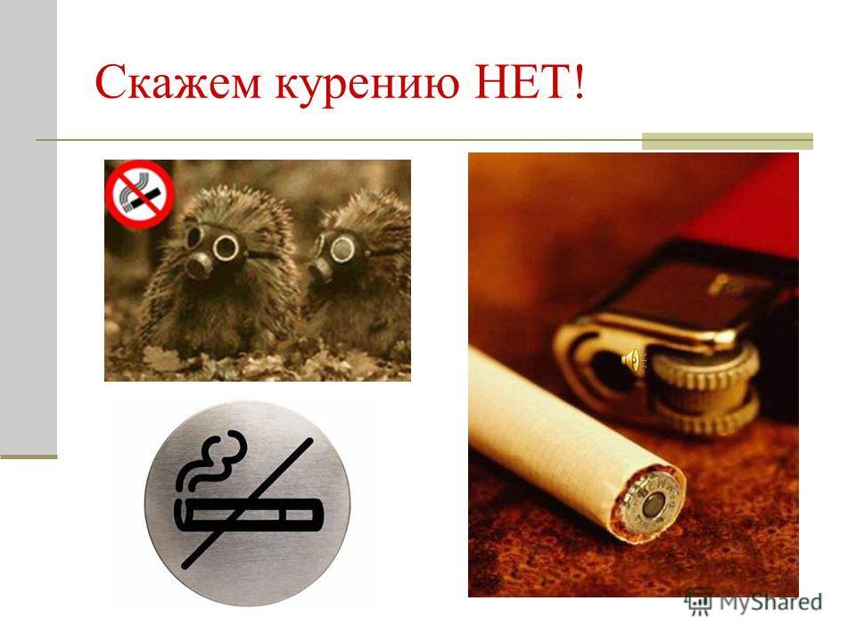 Скажем курению НЕТ!