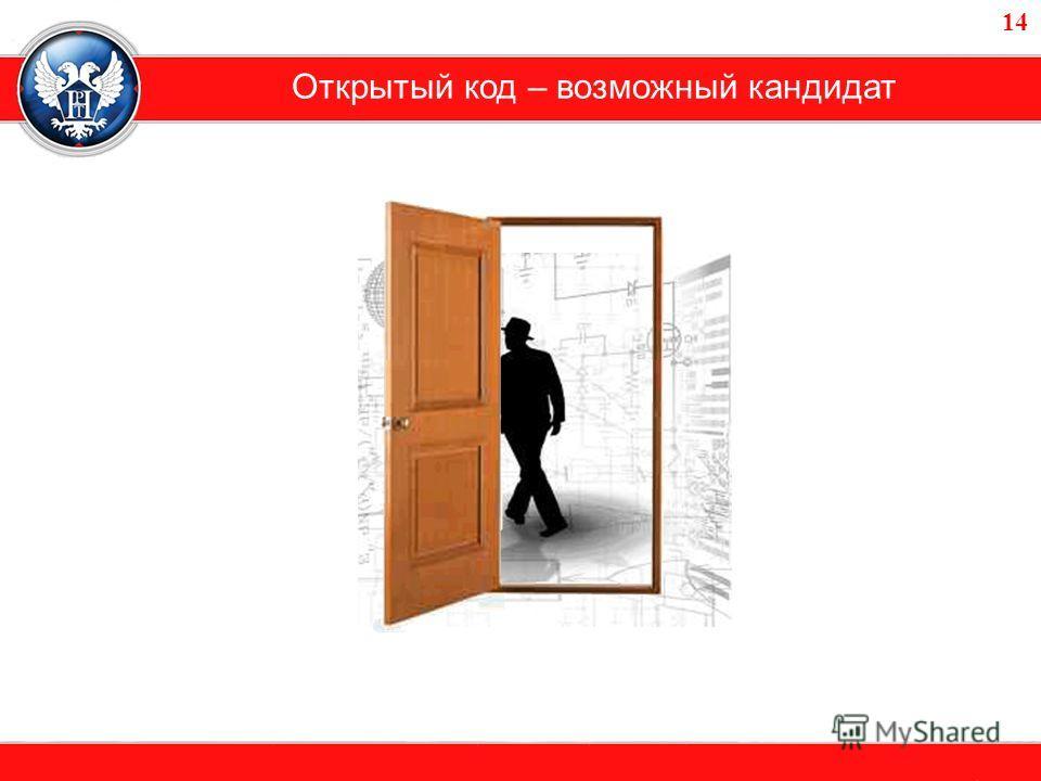 Открытый код – возможный кандидат 14