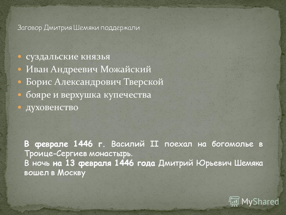 5 декабря 1437 г. под г. Белевым войска Василия Васильевича были разбиты воинственным Улу-Мухаммедом, внуком Тохтамыша, будущим основателем Казанского ханства в 1439 году Улу-Мухаммед осадил Москву, сжёг Коломну, многих убил, на восток потянулись тол