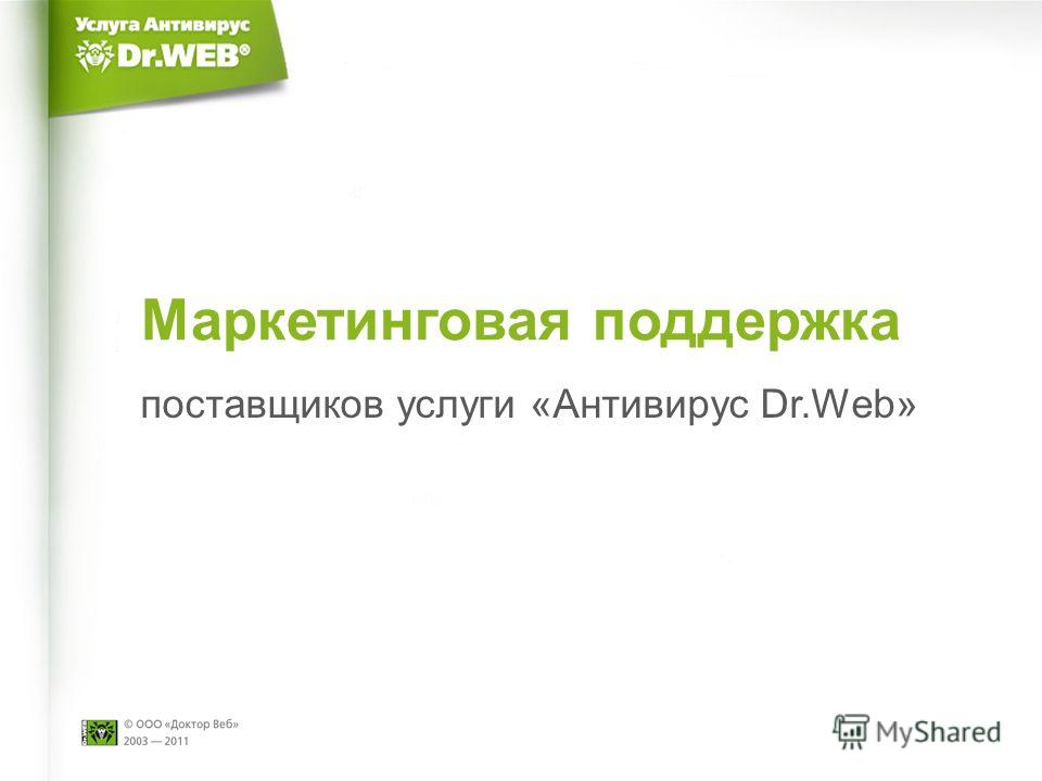Маркетинговая поддержка поставщиков услуги «Антивирус Dr.Web»
