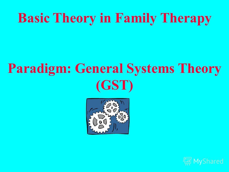 Basic Theory in Family Therapy Paradigm: General Systems Theory (GST)