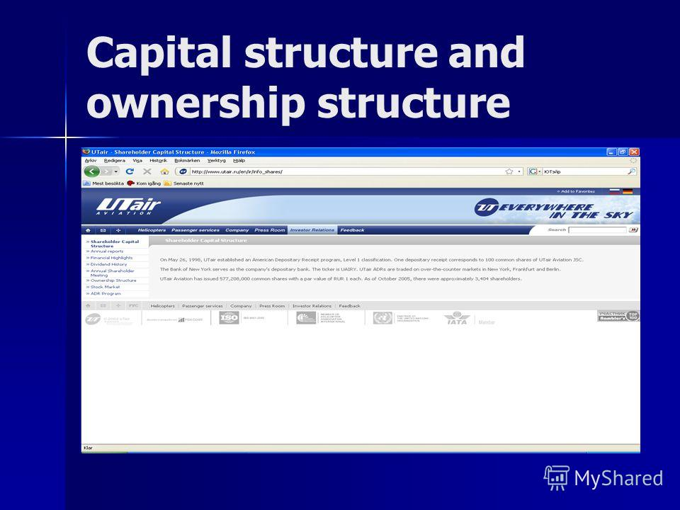 Capital structure and ownership structure