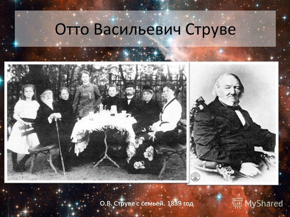 Отто Васильевич Струве О.В. Струве с семьей. 1839 год