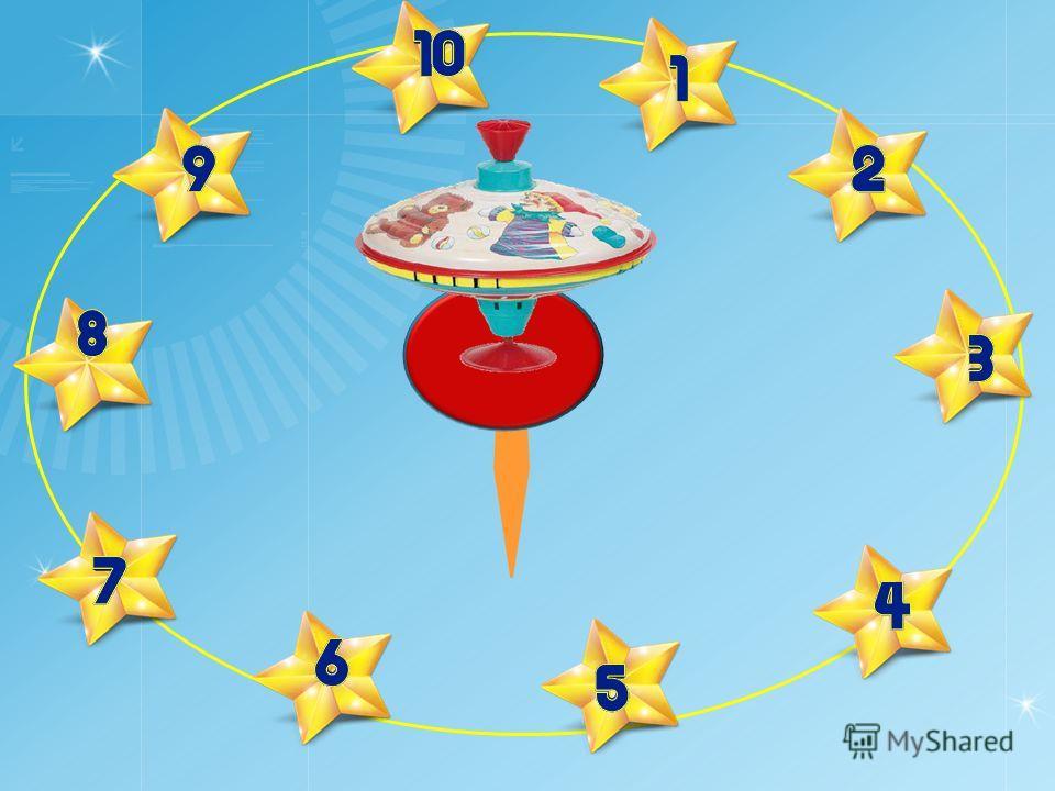 Правила игры: По стрелке волчка выбирается вопрос. За каждый правильный ответ игроком получается балл. Победителем признается игрок, набравший 90-100% правильных ответов.