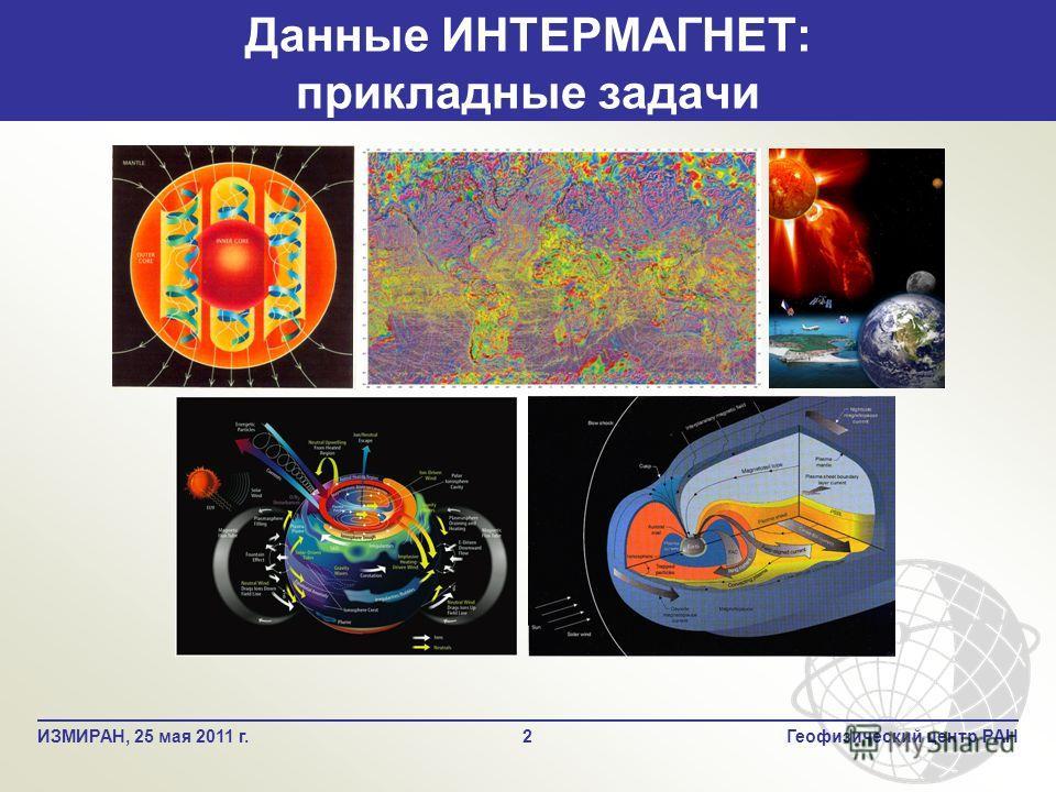 Данные ИНТЕРМАГНЕТ: прикладные задачи 2Геофизический центр РАНИЗМИРАН, 25 мая 2011 г.