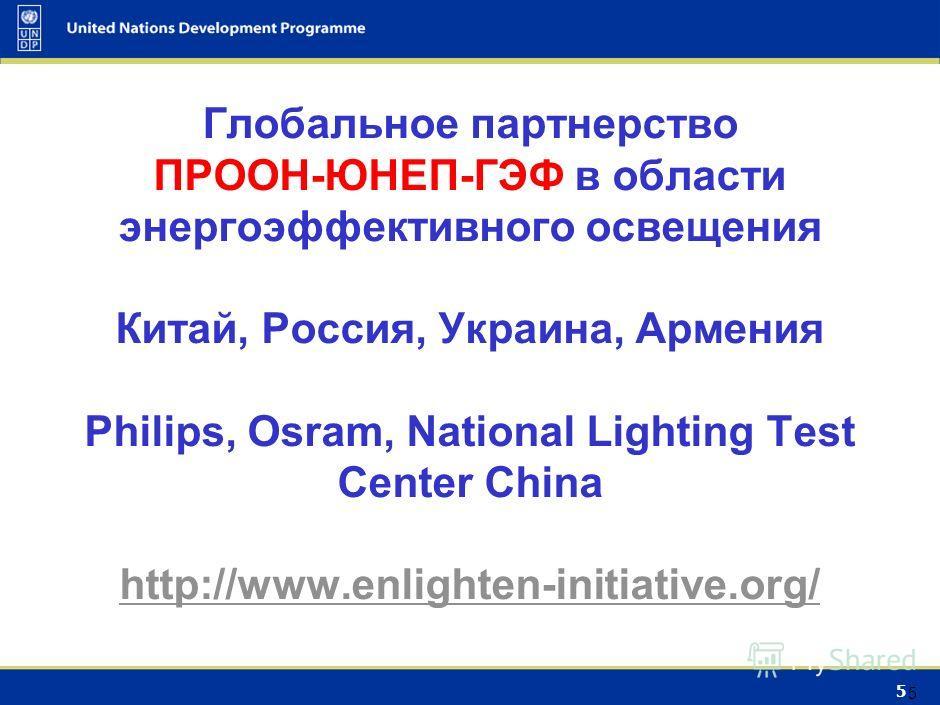 4 4 Сектор освещения : Потенциал энергосбережения: мин 40% Эффект: «негаватт» + соц-экон эффект Например в США до 2030: -300 ТВч/год -50 МВ -Экономия энергии 30 млрд долл/год