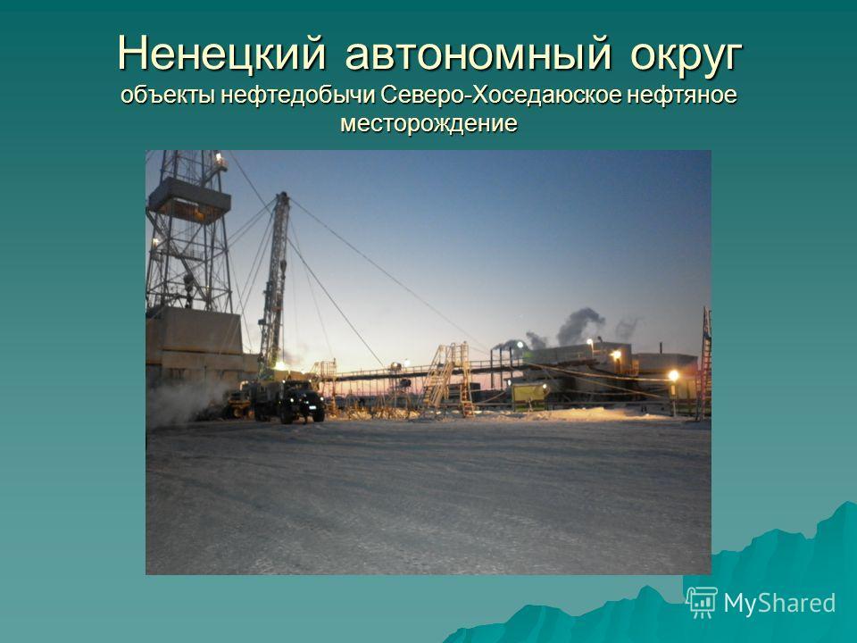 Ненецкий автономный округ объекты нефтедобычи Северо-Хоседаюское нефтяное месторождение