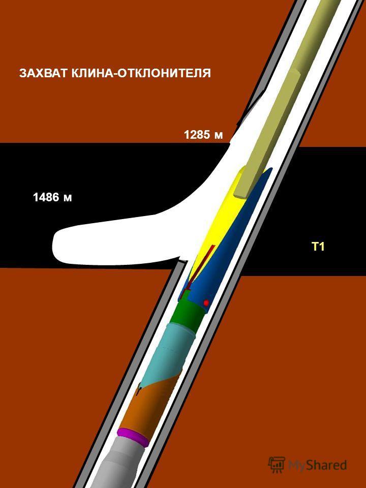 Т1 1486 м 1285 м ЗАХВАТ КЛИНА-ОТКЛОНИТЕЛЯ