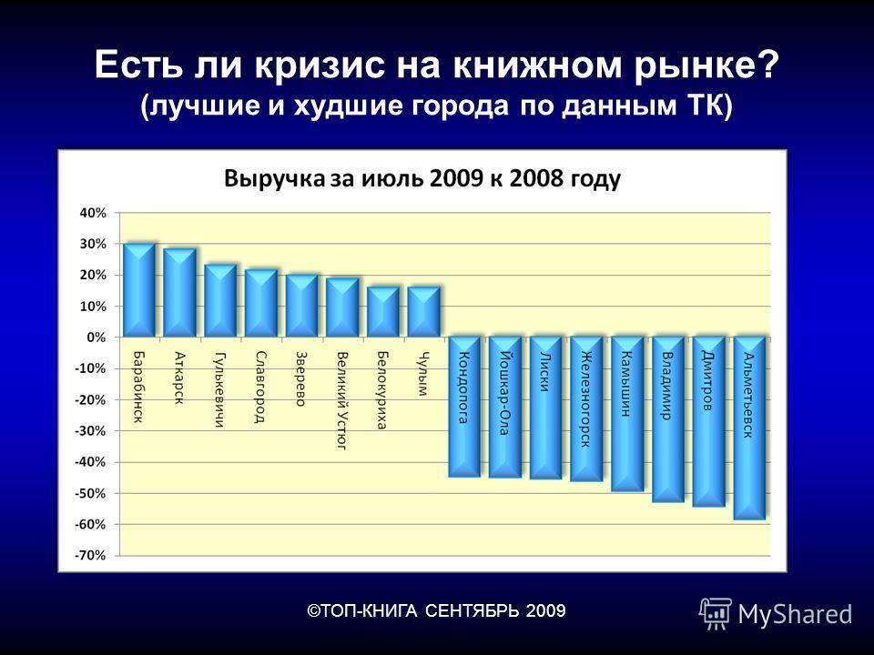 ©ТОП-КНИГА СЕНТЯБРЬ 2009 Есть ли кризис на книжном рынке? (лучшие и худшие города по данным ТК)