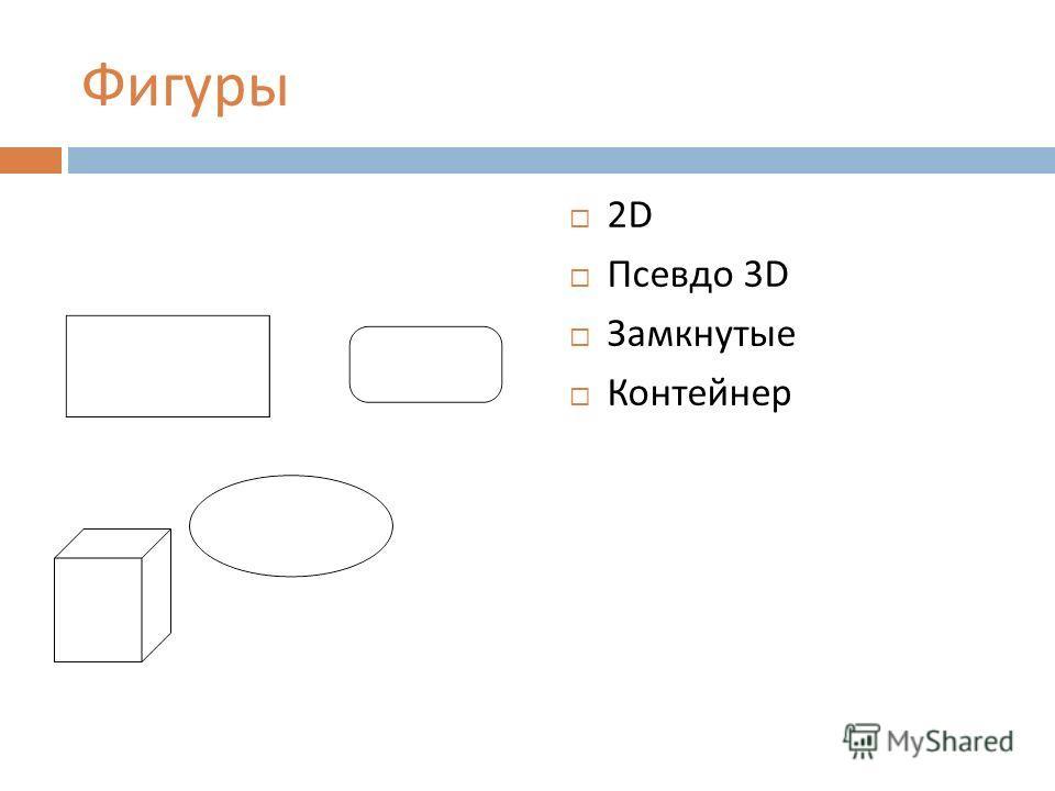 Фигуры 2D Псевдо 3D Замкнутые Контейнер