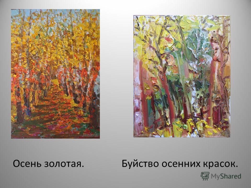 Осень золотая. Буйство осенних красок.