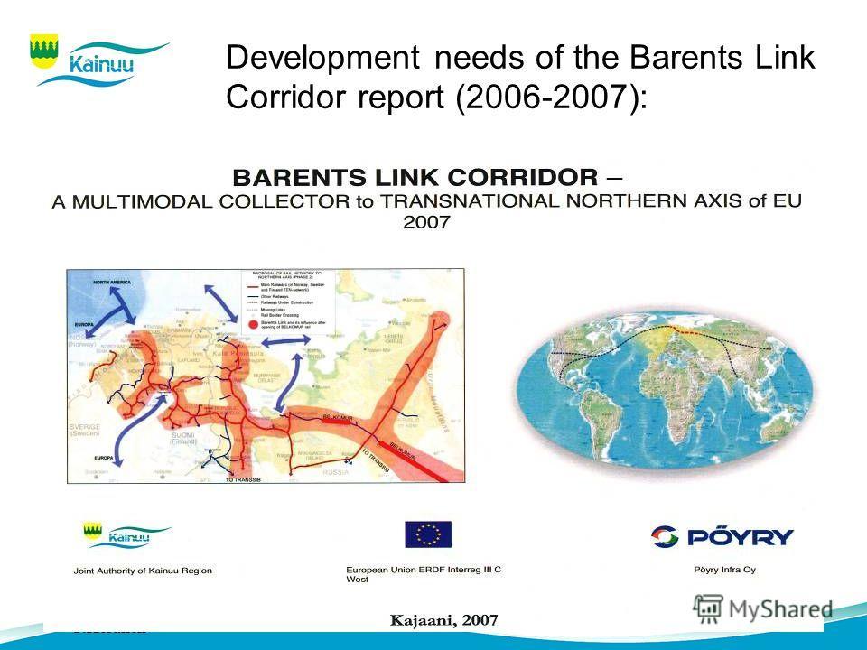 Development needs of the Barents Link Corridor report (2006-2007):