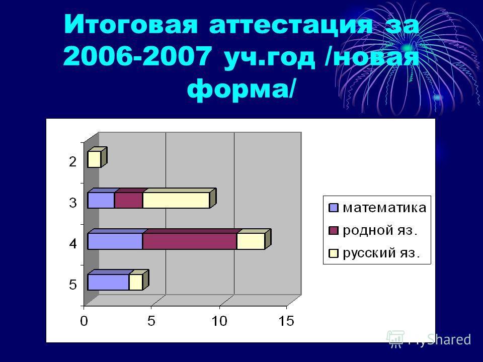 Итоговая аттестация за 2006-2007 уч.год /новая форма/
