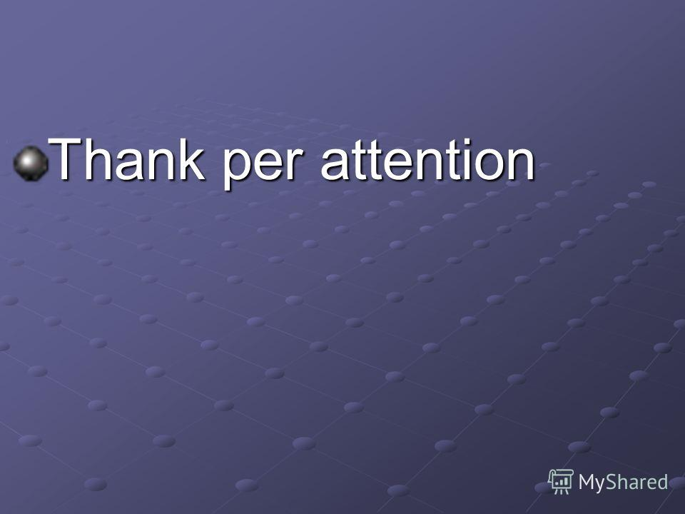 Thank per attention
