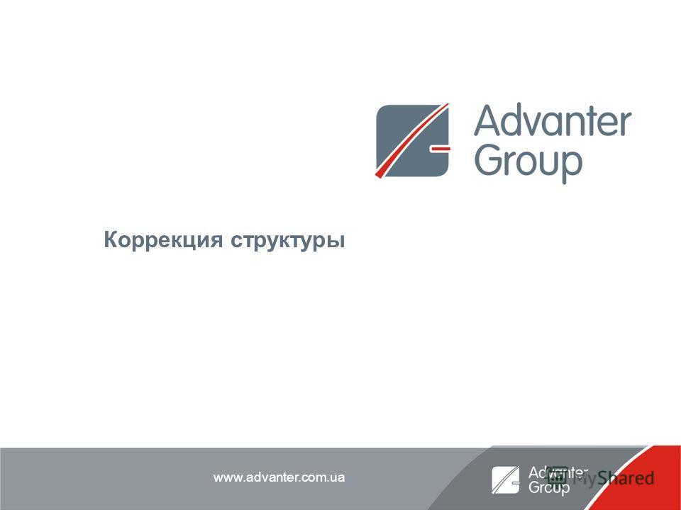 www.advanter.com.ua Коррекция структуры