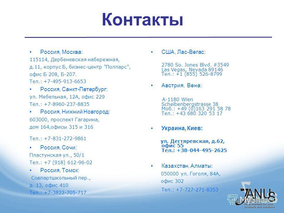 Контакты Россия, Москва: 115114, Дербеневская набережная, д.11, корпус Б, бизнес-центр