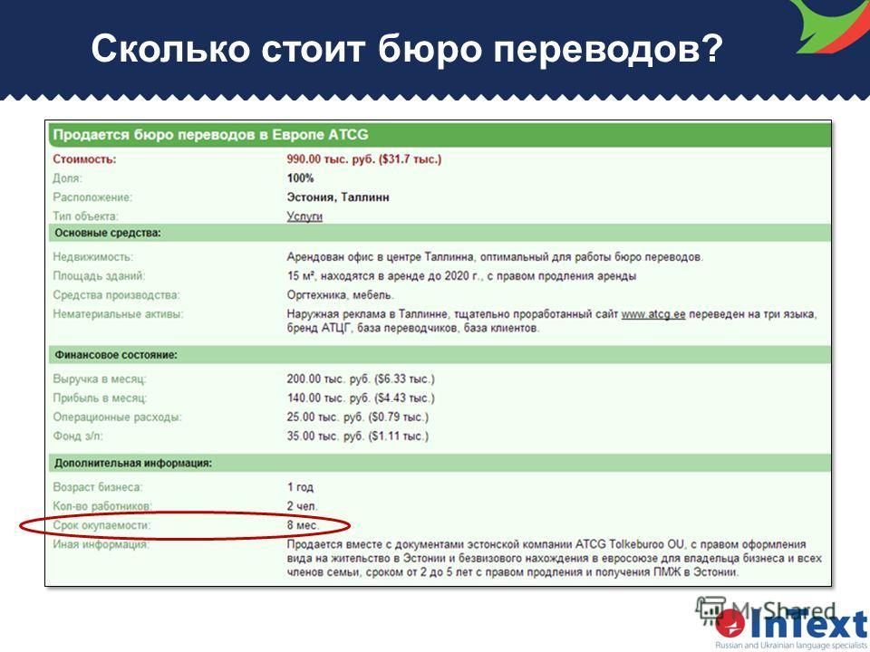 Сколько стоит бюро переводов?